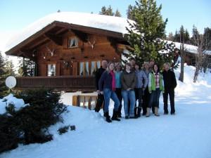 Blick auf die Hütte Thaler mit unseren Gästen
